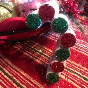 Other - Candy Cane Wine Cork Ornament